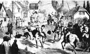 tøndet bliver slået fra hest