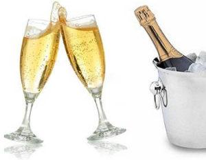 Champagne i glas