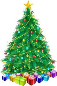 Juletræ med gaver